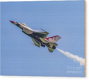 Wood Print featuring the photograph Thunderbird #5 by Nick Zelinsky