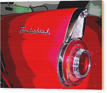 Thunderbird Wood Print by Audrey Venute