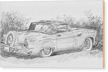 Thunderbird Sketch Wood Print
