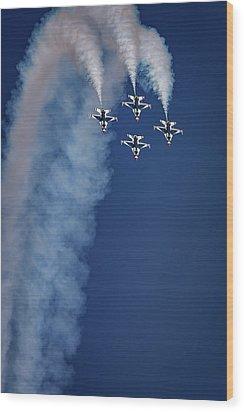 Wood Print featuring the photograph Thunderbirds Diamond Formation by Rick Berk