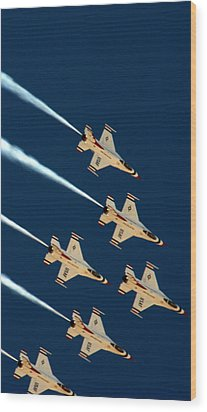 Thunderbirds  Wood Print by Karen Musick
