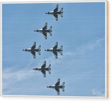 Wood Print featuring the photograph Thunderbirds by Linda Constant
