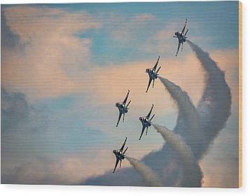 Wood Print featuring the photograph Thunderbirds by Rick Berk