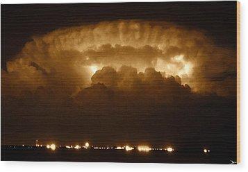 Thundercloud Wood Print by David Lee Thompson