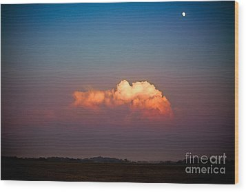 Thunderhead At Dusk Wood Print by Ryan Kelly