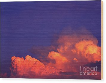 Thunderhead At Sunset Wood Print by Thomas R Fletcher