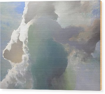 Wood Print featuring the painting Thunderhead by Cap Pannell