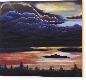 Thunderhead Wood Print by Christie Nicklay