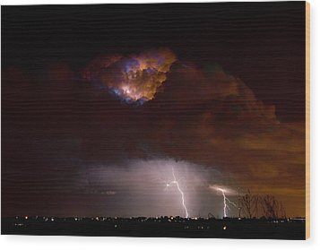 Thunderstorm Boulder County 08-15-10 Wood Print by James BO  Insogna