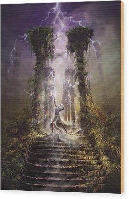 Thunderstorm Wizard Wood Print