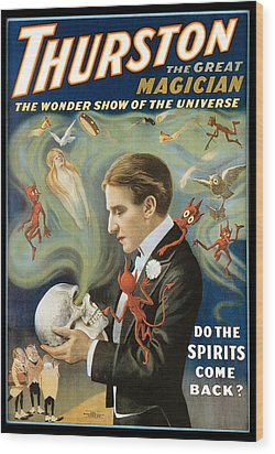 Thurston The Great Magician Wood Print by Unknown