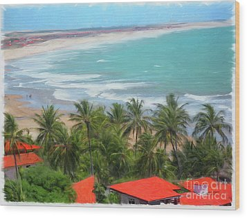 Tiabia, Brazil Beach Wood Print