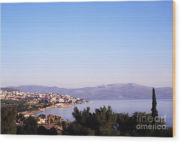 Tiberias Sea Of Galilee Israel Wood Print by Thomas R Fletcher