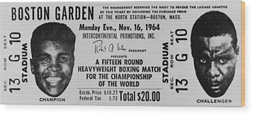 Ticket To World Championship Boxing Wood Print by Everett