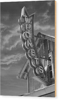 Wood Print featuring the photograph Tickets Bw by Laura Fasulo