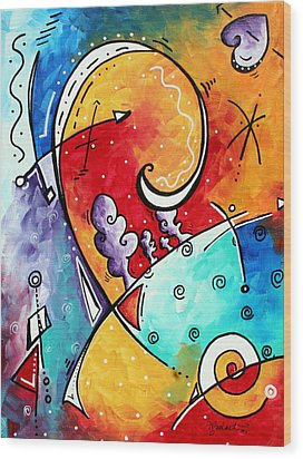 Tickle My Fancy Original Whimsical Painting Wood Print by Megan Duncanson