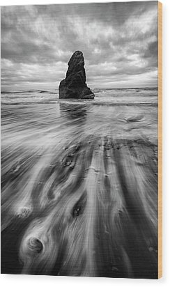 Wood Print featuring the photograph Tidal Dance by Mike Lang