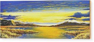 Tidal Lands Wood Print by Bob Patterson