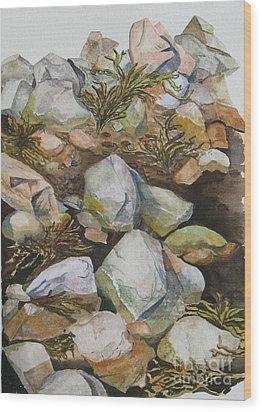 Tidal Pool Wood Print by Helen Shideler