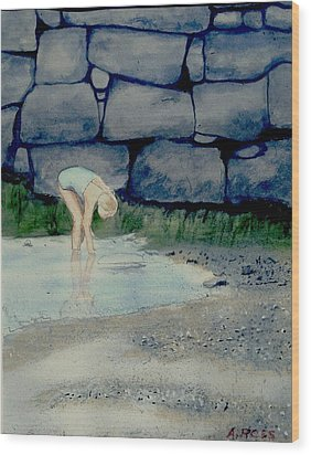 Tidal Pool Treasures Wood Print by Anthony Ross