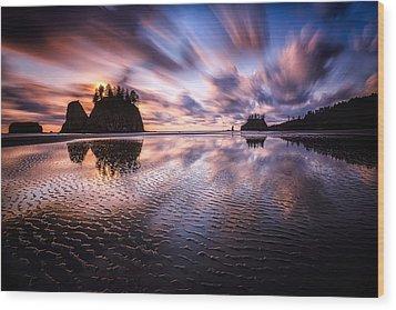 Tidal Reflection Serenity Wood Print