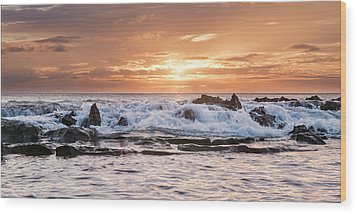 Wood Print featuring the photograph Tidal Sunset by Heather Applegate
