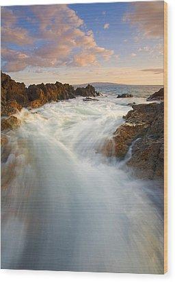 Tidal Surge Wood Print by Mike  Dawson