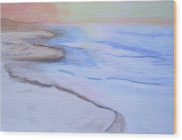 Tide Is Out Wood Print by Suzanne Udell Levinger