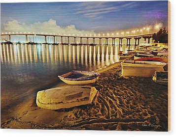 Tidelands Taxis Wood Print