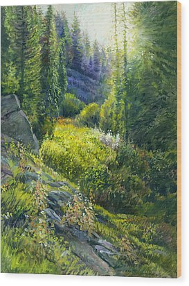 Tie Canyon Sunrise Wood Print by Steve Spencer