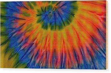 Tie Dye Wood Print by Dennis Dugan