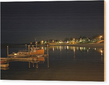 Wood Print featuring the photograph Tied Up For The Night by Greg DeBeck