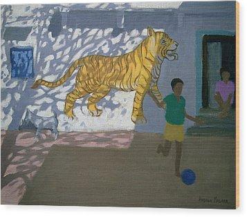 Tiger Wood Print by Andrew Macara