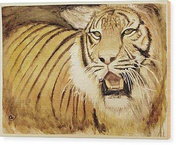 Tiger King Wood Print