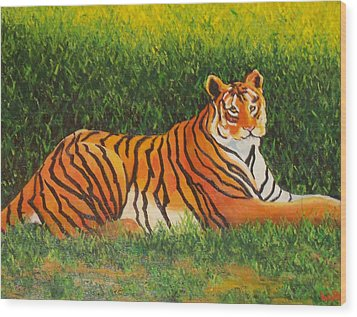 Tiger Wood Print by Lore Rossi