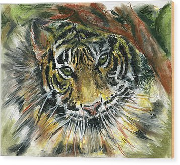 Tiger Wood Print by Marilyn Barton