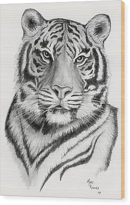 Tiger Wood Print by Mary Rogers