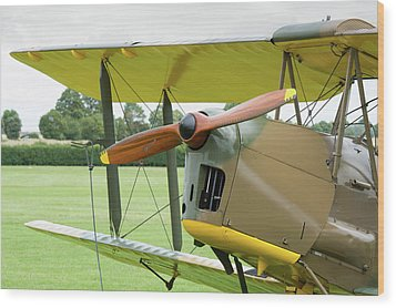 Wood Print featuring the photograph Tiger Moth Propeller by Gary Eason