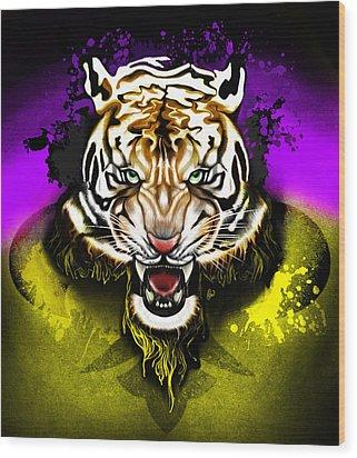 Tiger Rag Wood Print