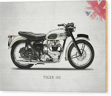 Tiger T110 1957 Wood Print by Mark Rogan