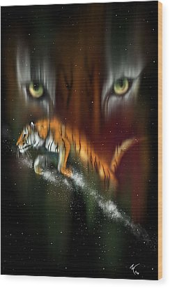 Tiger, Tiger Burning Bright Wood Print