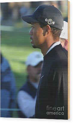 Tiger Woods IIi Wood Print by Chuck Kuhn