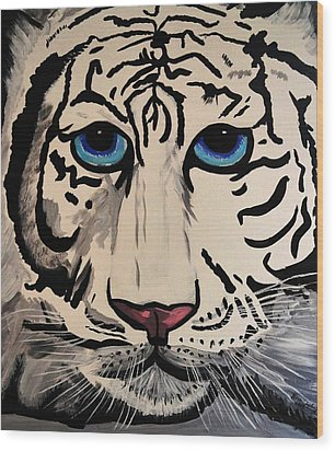 Tigger Wood Print by Nora Shepley