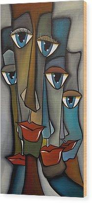 Tight Knit By Fidostudio Wood Print by Tom Fedro - Fidostudio