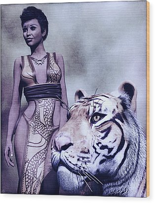 Tigress Wood Print