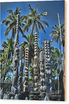 Tiki Gods Wood Print