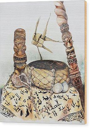 Tiki Still Life 1 Wood Print