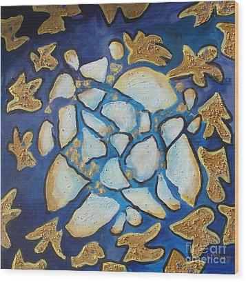 Tikkun Olam Heal The World Wood Print by Laurie Morgan