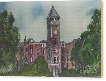 Tillman Hall One Clemson Wood Print by Patrick Grills