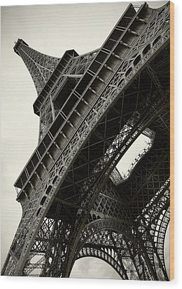 Wood Print featuring the photograph Tilted Eiffel by Stefan Nielsen